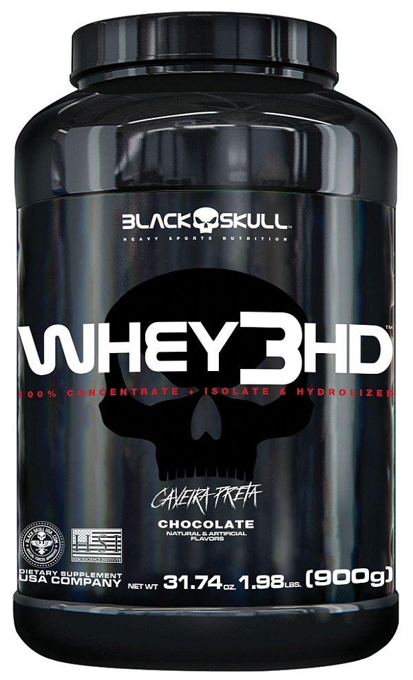 WHEY 3HD - 900G - BLACK SKULL - CHOCOLATE