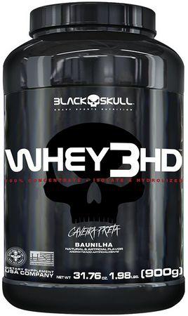WHEY 3HD - 900G - BLACK SKULL - BAUNILHA