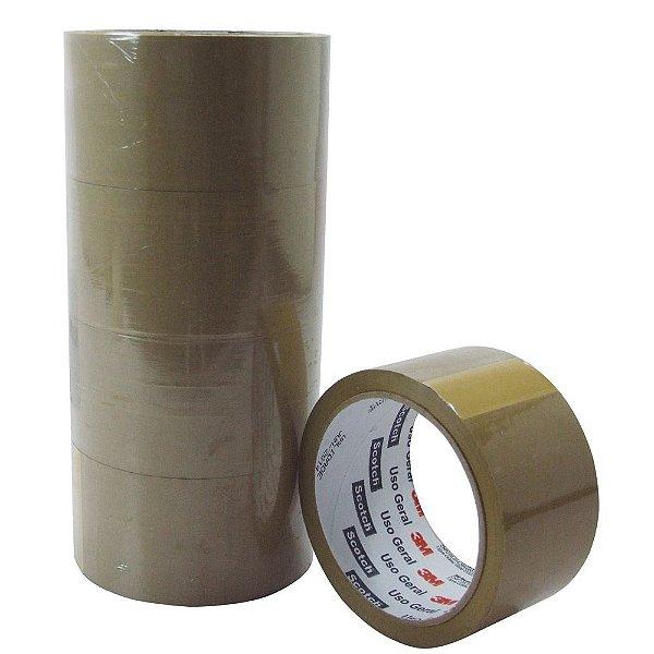 5 Rolos Fita Adesiva Marron 48mm  x 45metros Alltape