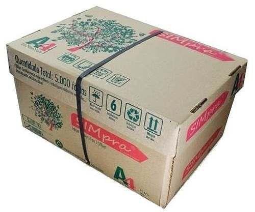 Caixas de folha de Sulfite SIMPRA A4 c/ 10un de 500 folhas