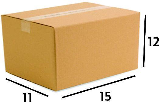 25 Caixas de Papelão Correios Sedex Pac Nº06 - C:15 X L:11,5 X A:12 cm