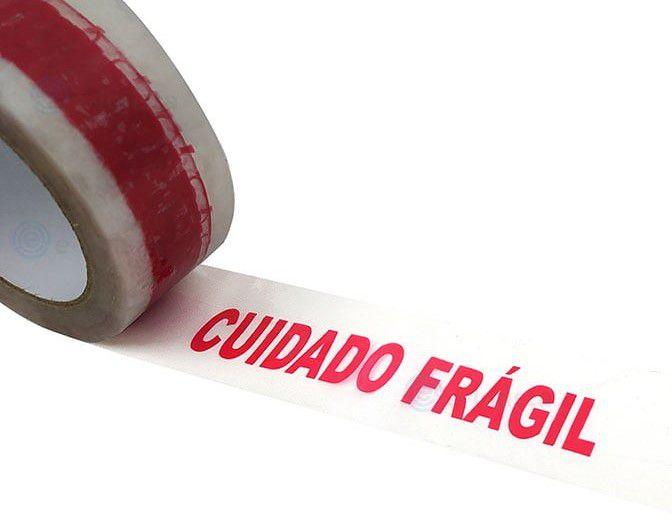 Fita Adesiva Cuidado Fragil  48mm x 50 metros
