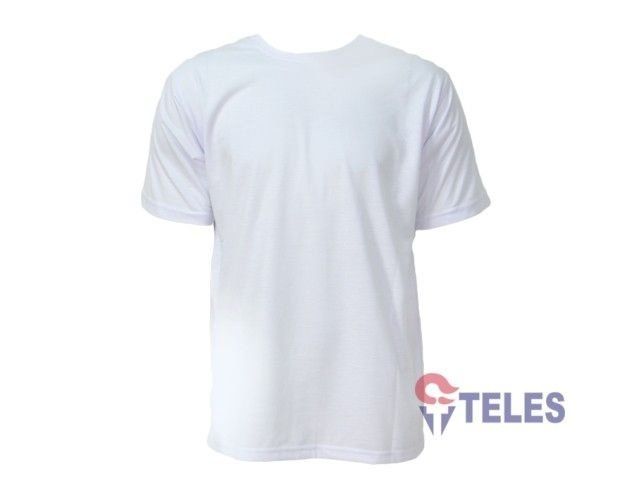 Camiseta Gola Careca Malha PV Branca - www.lojateles.com.br c05c8d2b2bf