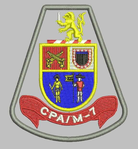 BRASÃO CPA/M-7 - Comando de Policiamento de Área Região Sete - RMSP - sub-região Norte e parte da sub-região Leste (Guarulhos, Santa Isabel e Arujá)
