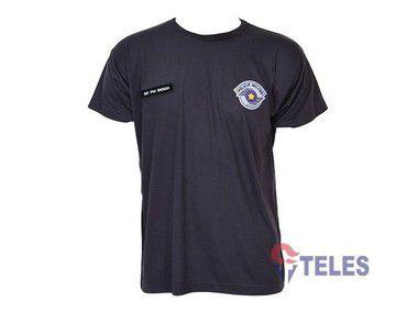 Camiseta Cinza Bandeirante PMESP c/ Velcro
