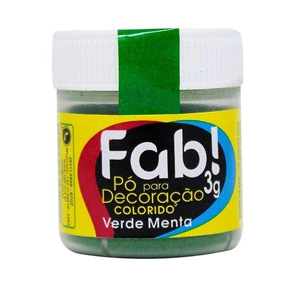 PÓ VERDE MENTA PARA DECORAÇÃO EM CONFEITARIA  3G FAB