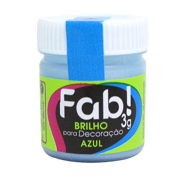 PÓ BRILHO AZUL PARA DECORAÇÃO EM CONFEITARIA  3G FAB
