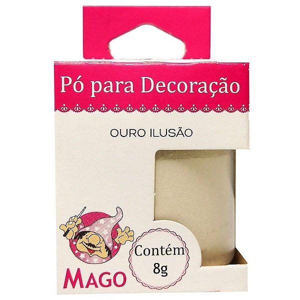 PÓ PARA DECORAÇÃO OURO ILUSÃO MAGO 8 GRAMAS