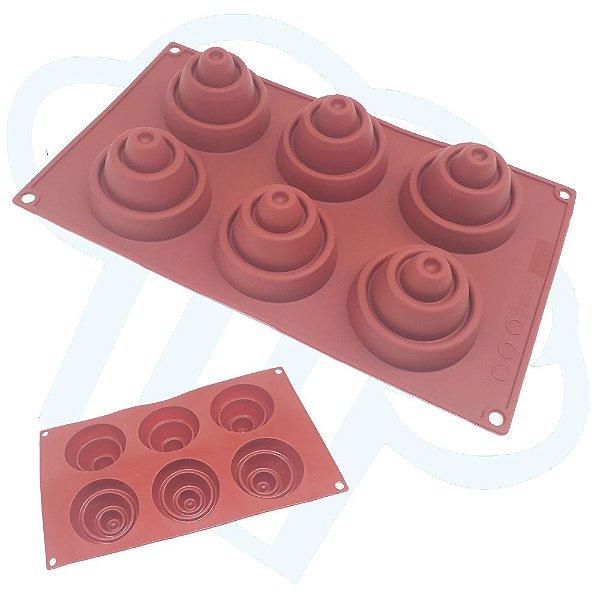 Forma Silicone Babel Chocolate Doces Finos Confeitaria