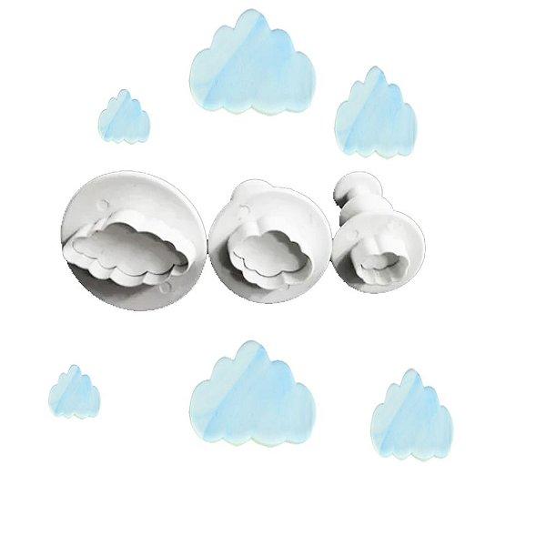 Jogo Cortador Ejetores Nuvens Confeitaria Pasta Americana