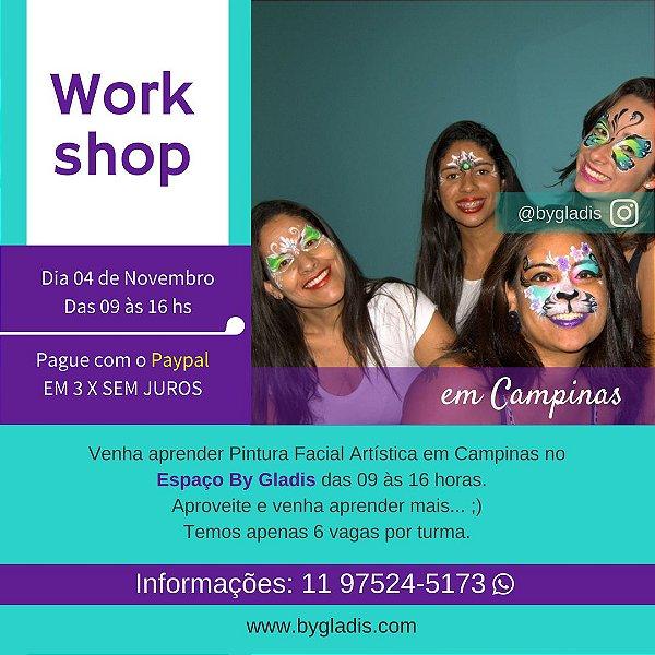 04 NOV em CAMPINAS | WORKSHOP DE PINTURA FACIAL INCIANTE COM 6 HORAS