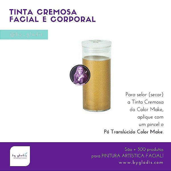 Tubo Tinta Cremosa Facial e Corporal Metálica Maquiagem Artística Color Make 20 GR   Ouro - Dourada