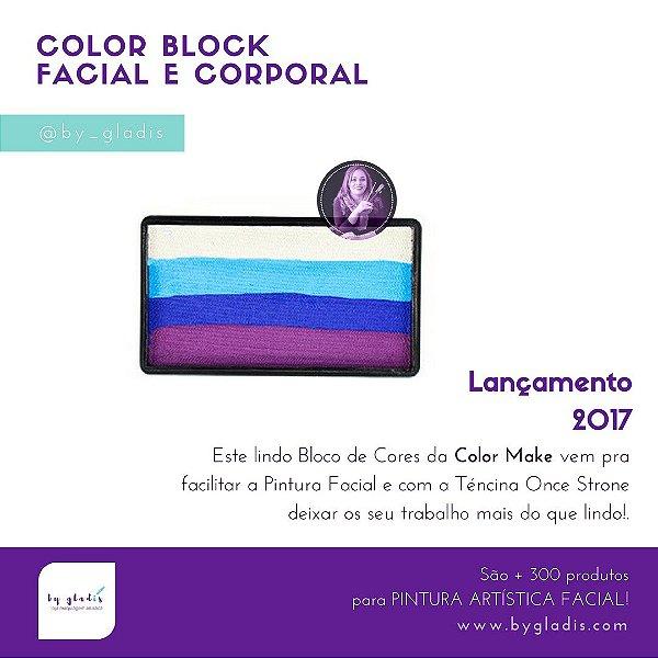 Kit Sortido Bloco Colorido Pintura Artística Facial Color Make   8 unidades