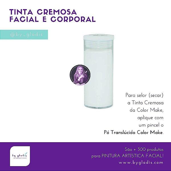 Tubo Tinta Facial Cremosa Facial e Corporal Maquiagem Artística Color Make 20 gr | Branca – Branco