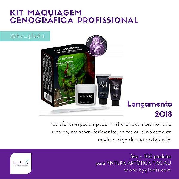 Kit Maquiagem Caracterização para Efeitos Especias Color Make | Profissional