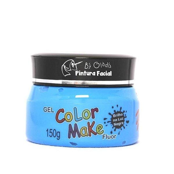 Gel Fluorescente para Cabelo Color Make 150 gr | Azul Neon