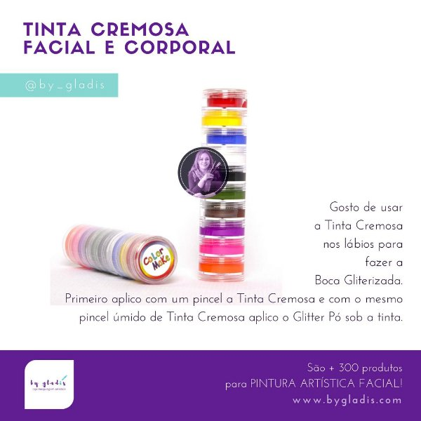 Torre Tinta Cremosa para Pele Color Make| 10 Cores