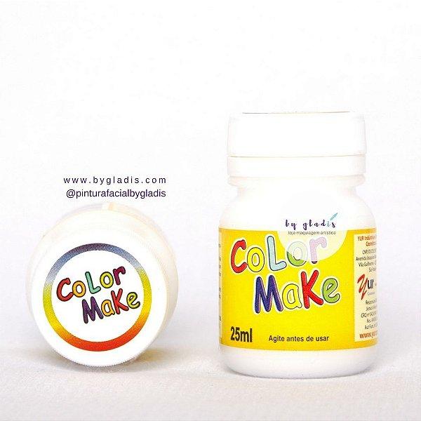 Tinta Líquida Pintura Facial e Corporal Color Make 25 ML   Branco - Branca
