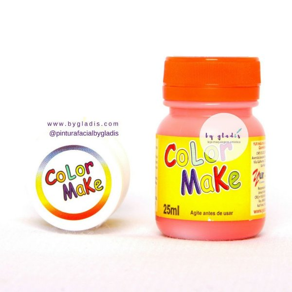 Tinta Líquida Pintura Facial e Corporal Color Make 25 ML |Laranja