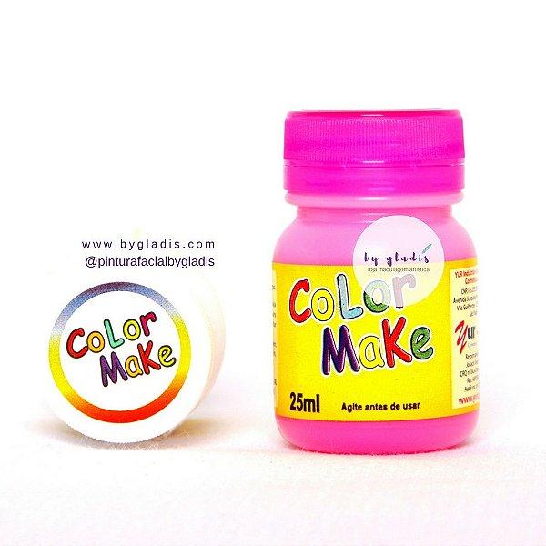 Tinta Líquida Pintura Facial e Corporal Color Make 25 ML | Rosa - Pink