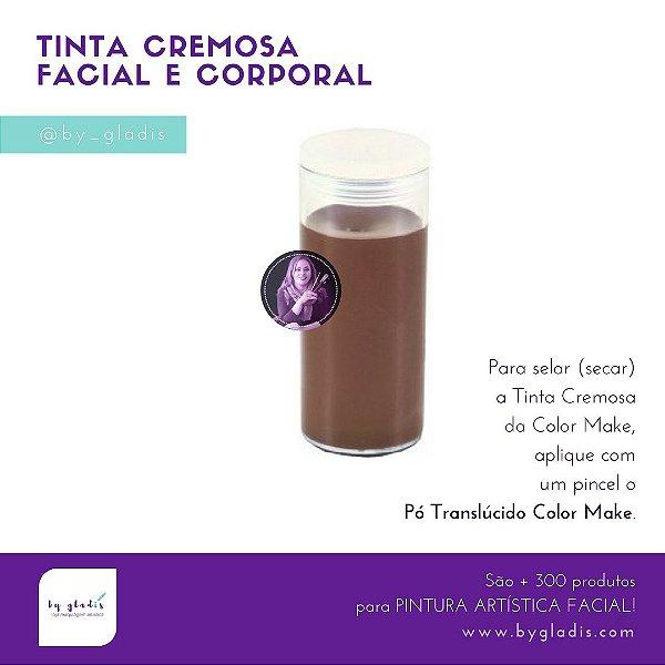 Tubo Tinta Cremosa Facial e Corporal Maquiagem Artística Color Make 20 gr | Marrom