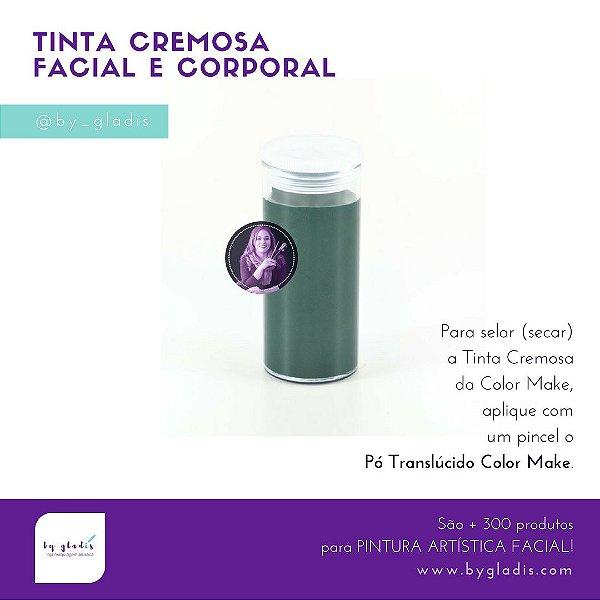 Tubo Tinta Cremosa Facial e Corporal Maquiagem Artística Color Make 20 gr | Verde