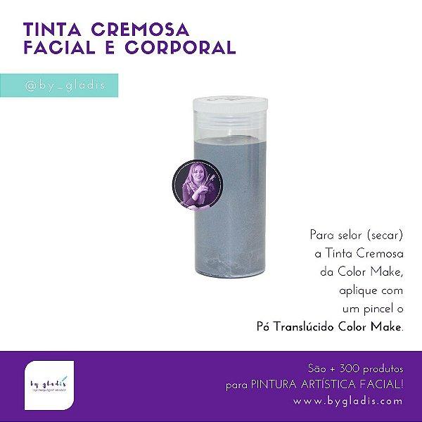 Tubo Tinta Cremosa Facial e Corporal Maquiagem Artística Color Make 20 GR | CINZA