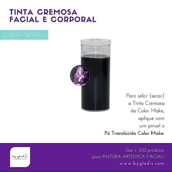 Tubo Tinta Cremosa Facial e Corporal Maquiagem Artística Color Make 20 gr | Preto - Preta