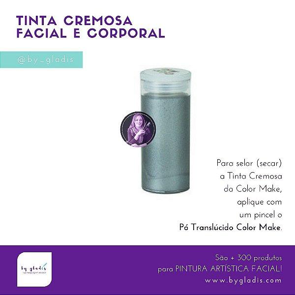 Tubo Tinta Cremosa Facial Metálica Maquiagem Artística Color Make 20 gr | Prata