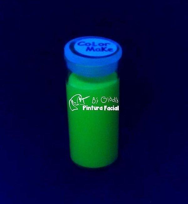 Tubo Tinta Cremosa Facial e Corporal Maquiagem Artística Flúor Color Make 20 gr | Verde