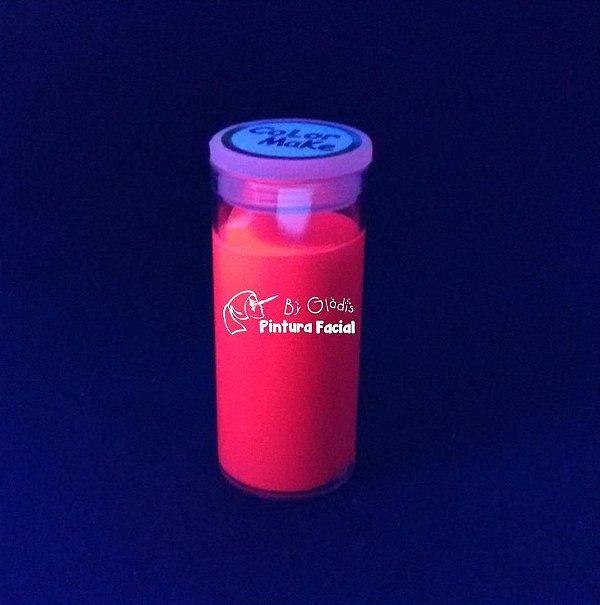 Tubo Tinta Cremosa Facial e Corporal Maquiagem Artística Flúor Color Make 20 gr   Vermelho - Vermelha