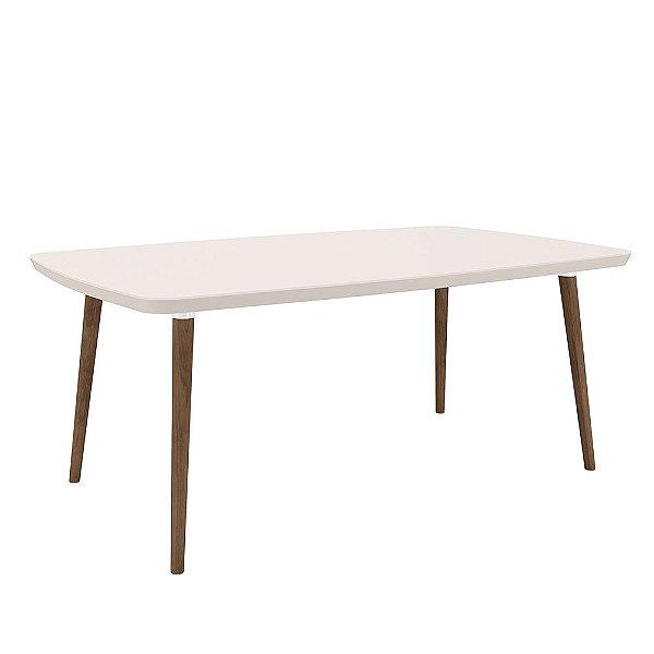 mesa de jantar 6 lugares altura 78 cm tamanho 170 x 90 cm retangular pé palito