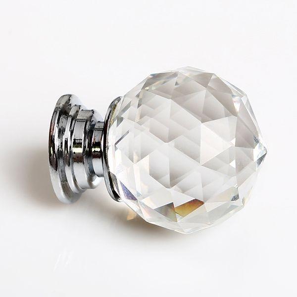 Puxador de Cristal para Gavetas - 30 mm