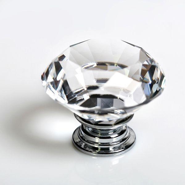 Puxador de Cristal para Móveis