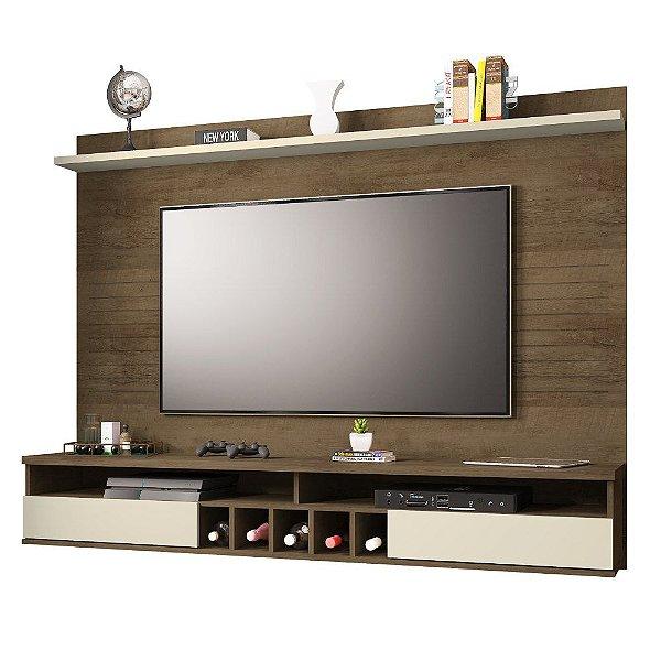 Painel De Tv Para Quarto Ou Sala Tv Até 60 Polegadas Altura 140 cm Largura 183 cm Com Adega