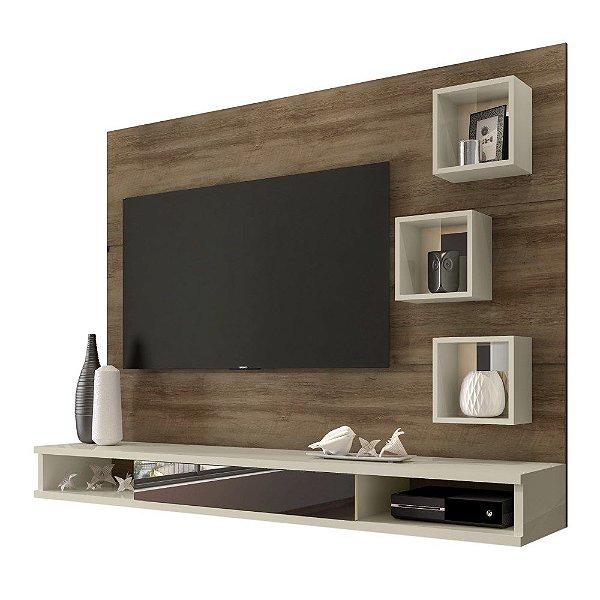 Painel De Tv Para Quarto Ou Sala Tv Até 42 Polegadas Altura 141 cm Largura 183 cm