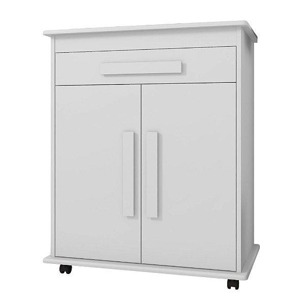 armário de cozinha ou escritório pequeno multiuso altura 93 cm com rodas com 2 portas