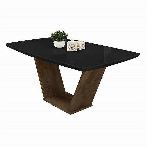 Mesa de jantar 6 lugares 170 x 90 cm com vidro