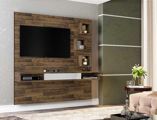 Painel para TV de Luxo Grande de Madeira - London