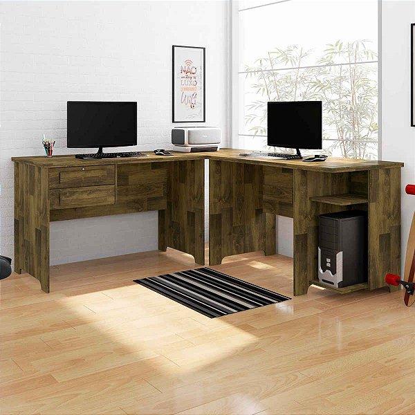 Conjunto 2 mesas de madeira para escritório