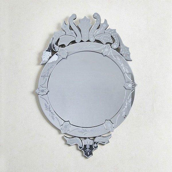 Espelho Veneziano de Luxo Redondo Grande - Cisne