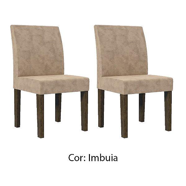 Kit 2 cadeiras para mesa de jantar com encosto estofado - CADEIRA EUROPA