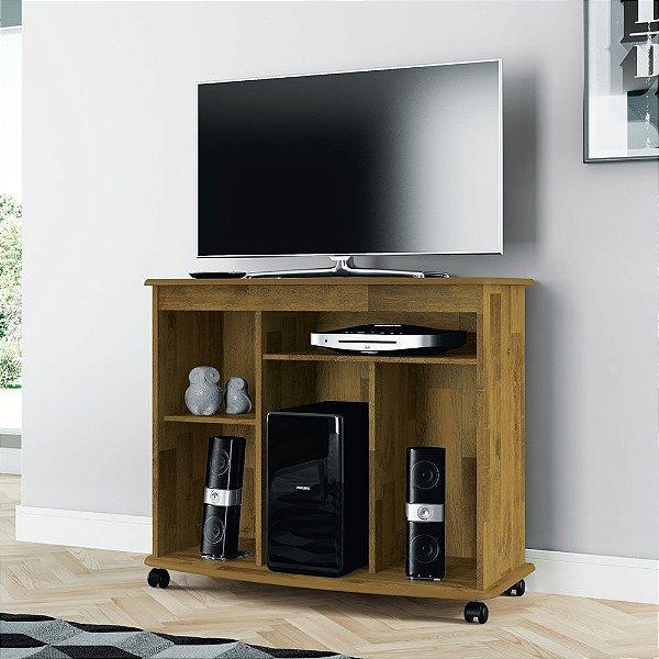 Rack para sala de estar com suporte para TV e aparelho
