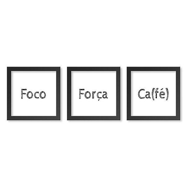 Quadros Decorativos Foco Força Café 30x30 cm