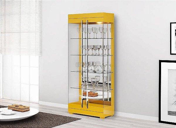 Cristaleira Moderna com Portas de Vidro - Channel