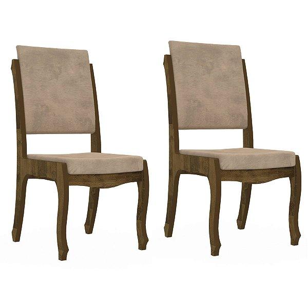 Kit com 2 cadeiras decorativas para mesa de jantar