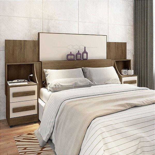 cabeceira king para cama box com 2 criados mudos 200 cm