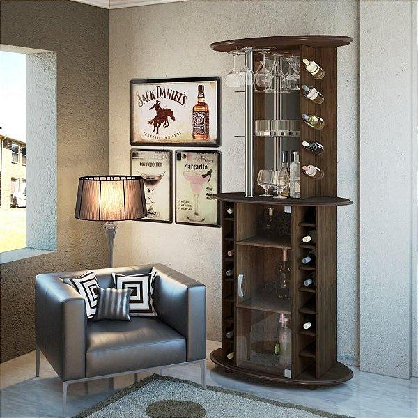 Barzinho para garrafas e taças de madeira mdf alto