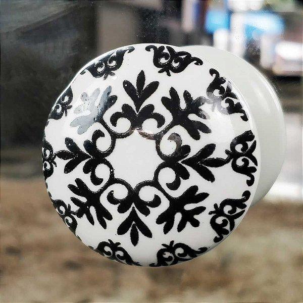 Puxador decorativo de cerâmica para quarto cômoda e gavetas 214319
