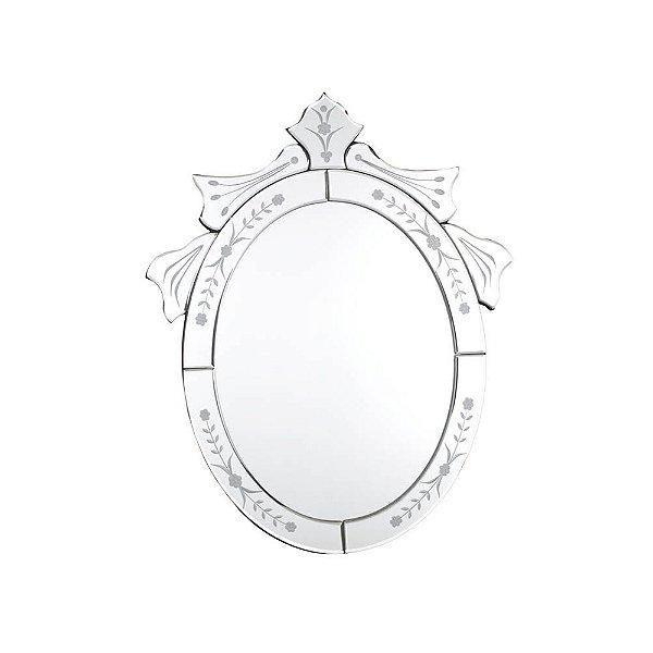 Espelho Veneziano 50 x 40 cm Pequeno Oval